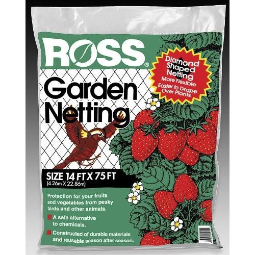 Ross Garden Netting, 14-feet x 75-feet, Diamond