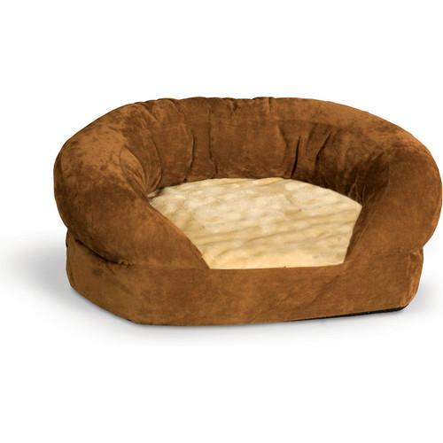 K&H Pet Products Brown Velvet Ortho Bolster Sleeper Pet Bed [X-Large]