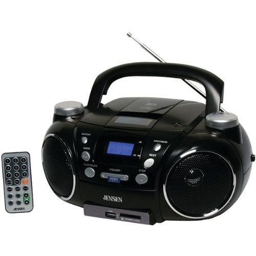 Portable Am/FM Stereo CD Player With MP3 Encoder/Player - JENSEN
