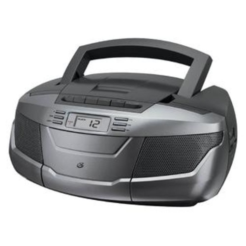 GPX CD Boom Box with AM-FM Radio and Cassette Player