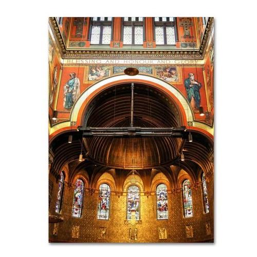 Trademark Fine Art Gallery Wrapped Canvas CATeyes 'Trinity Church' Canvas Art [option : 32 x 22 'Trinity Church' canvas art]