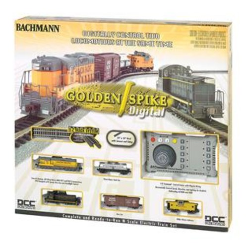 Bachmann Trains Bachmann Trains Golden Spike - N Scale Ready To Run Electric Train Set With Digital Command Control