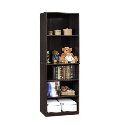 Furinno JAYA 5-Shelf Espresso Open Bookcase