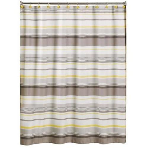 Saturday Knight Spring Garden 70 in. W x 72 in. L Stripe Fabric Shower Curtain
