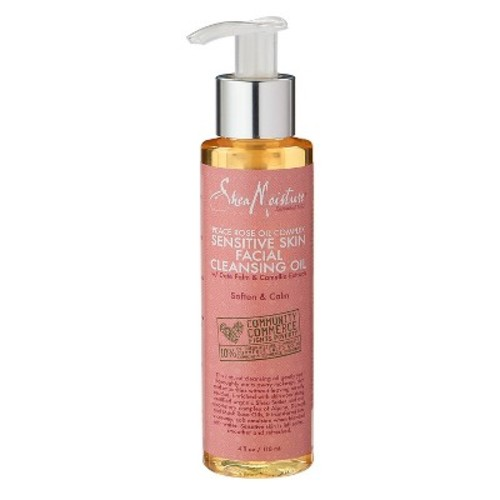 SheaMoisture Peace Rose Oil Complex Sensitive Skin Facial Cleansing Oil - 4 oz
