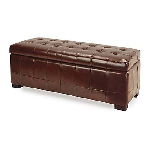 Safavieh Hudson Leather Large Manhattan Storage Bench