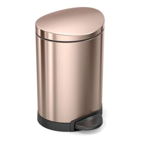 simplehuman 6-Liter Semi-Round Step Can in Rose G