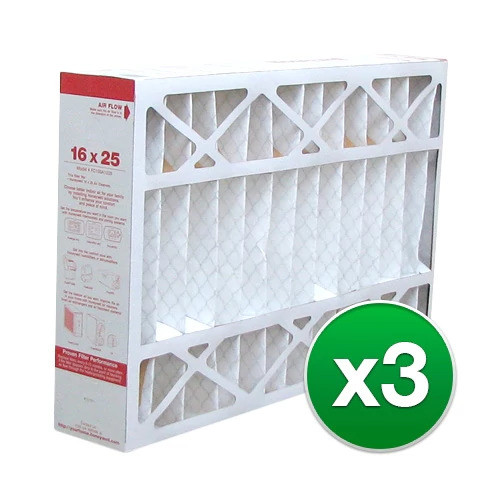 Replacement Pleated Air Filter for For Honeywell FC100A1029 AC 16x25x4 MERV 11 (3 Pack)