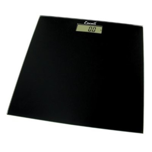 Escali Digital Glass Platform Bathroom Scale in Black