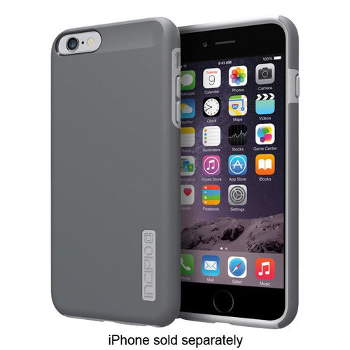 Incipio - DualPro Hard Shell Case for Apple iPhone 6 Plus and 6s Plus - Gray
