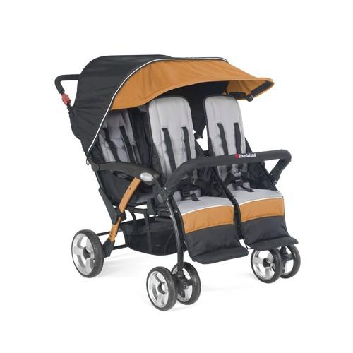 Foundations Quad Sport 4-Passenger Stroller, Orange