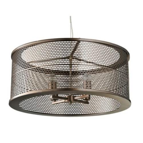 Varaluz Lit-Mesh Test 4-Light Pendant in Bronze