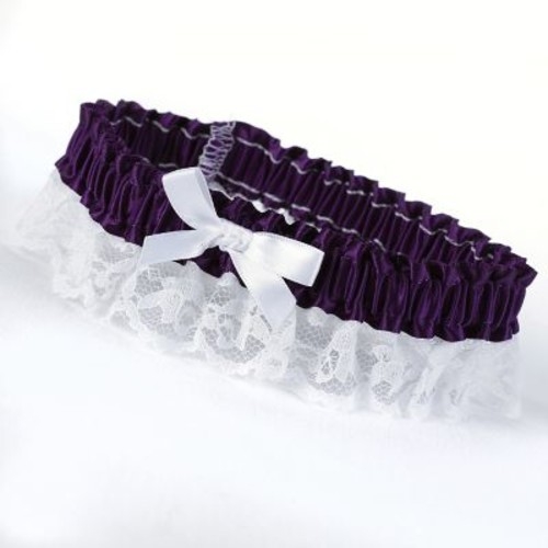 HBH Petite Garters With White Bow and Delicate Lace Trim