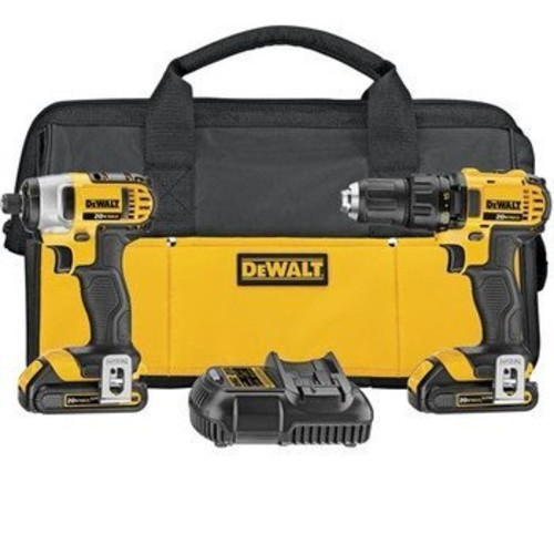 DEWALT DCK280C2R 20V MAX Lithium Ion Compact Drill/Driver and Impact Driver Combo Kit 1.5 Ah (Certified Refurbished)
