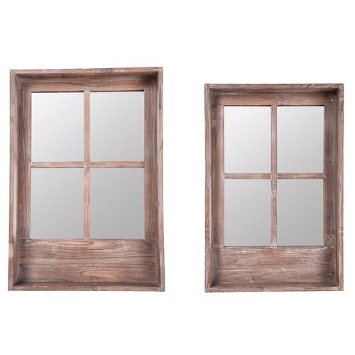 Home Decorators Collection Mirrored 2-Piece Window Shelves