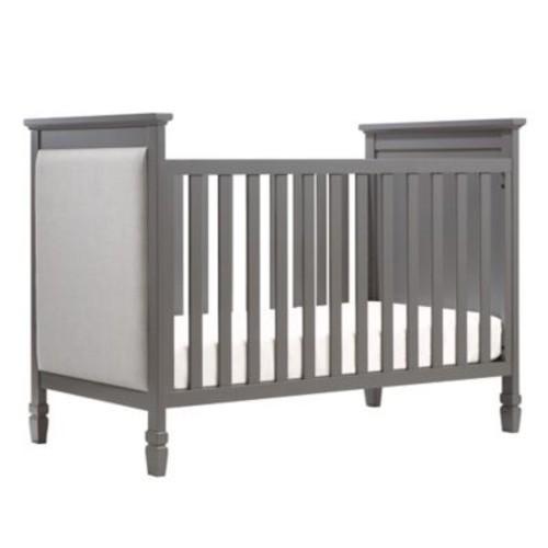 DaVinci Lila 3-in-1 Convertible Crib in Slate with Pebble Grey Fabric