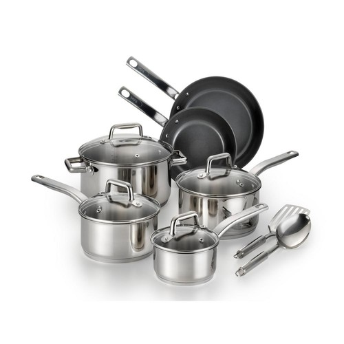 T-Fal Precision Stainless Steel 12-Pc. Cookware Set
