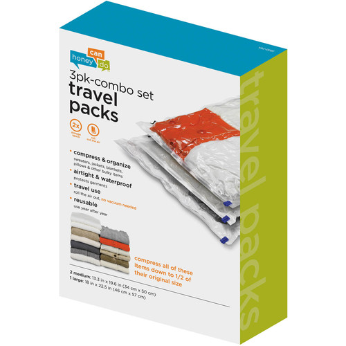 Honey Can Do Vac-01351 Travel Pack Combo 3 Piece Set