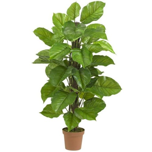 Nearly Natural Real Touch 52 in. H Green Large Leaf Philodendron Silk Plant