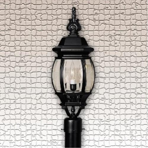 Designers Fountain 2416-BK Riviera Post Lanterns, Black [Black]
