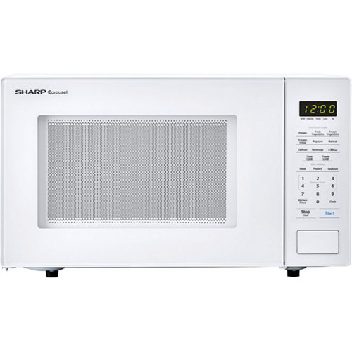 Sharp Carousel 1.1 Cu. Ft. 1000W Countertop Microwave Oven in White SMC1131CW