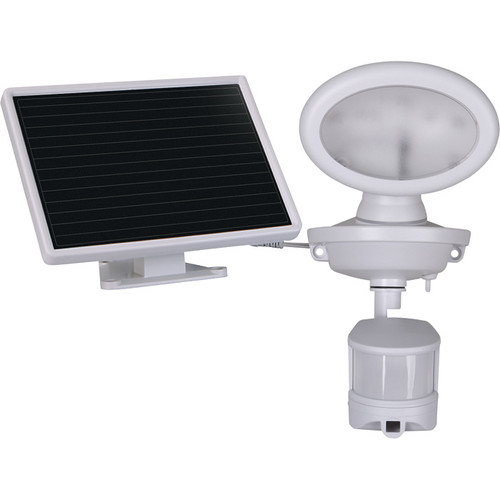Maxsa Innovations Motion-Activated Solar Security Video Camera with Spotlight  White, Model# 44643-CAM-WH