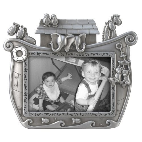 Malden International Designs Noah's Ark Baby Metal Picture Frame, 3x5, Silver [Noah's Ark Baby]