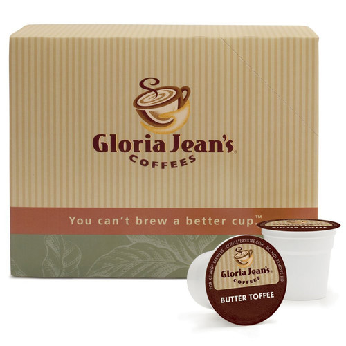 Gloria Jean's Butter Toffee Coffee 18 Count K-Cups