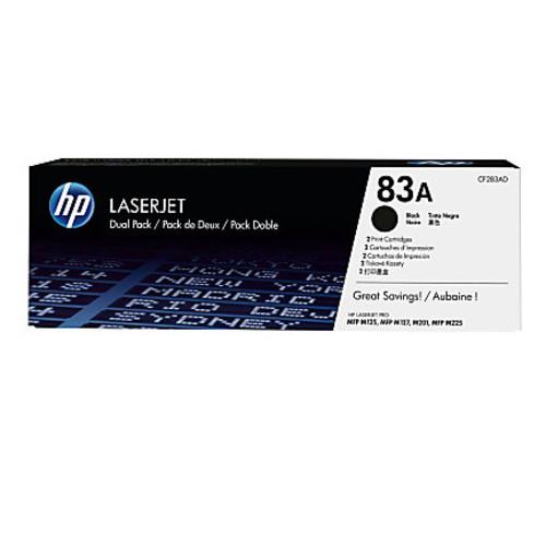 HP 83A Black Toner Cartridges (CF283AD), Pack Of 2