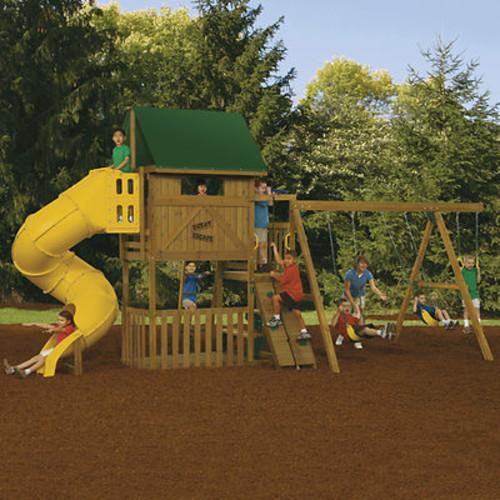 PlayStar Great Escape Factory Built Silver Swing Set