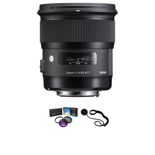 Sigma 24mm f/1.4 DG HSM Art Lens for Nikon with Filter Kit