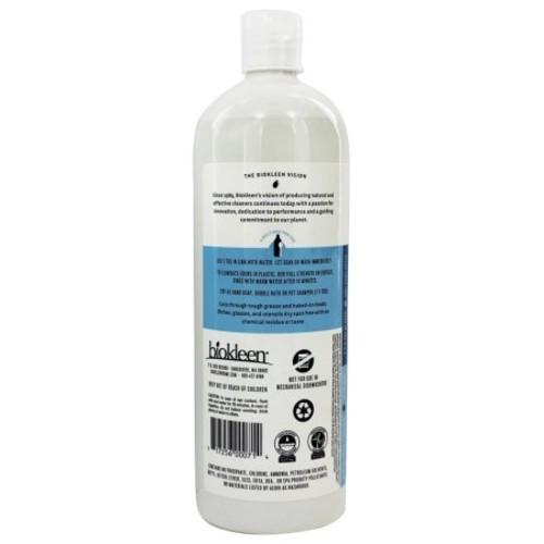 Biokleen Dish Liquid, Free & Clear, 32 oz (Pack of 12)