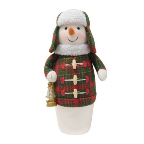 11.25'' Plaid Snowman Figurine - Wondershop