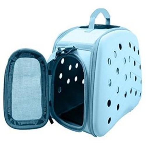 PetLife Central Narrow Shelled Perforated Lightweight Collapsible Military Grade Transportable Designer Pet Carrier