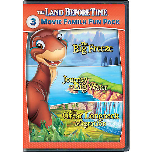 The Land Before Time VII-X 3-Movie Family Fun Pack 2 Disc DVD