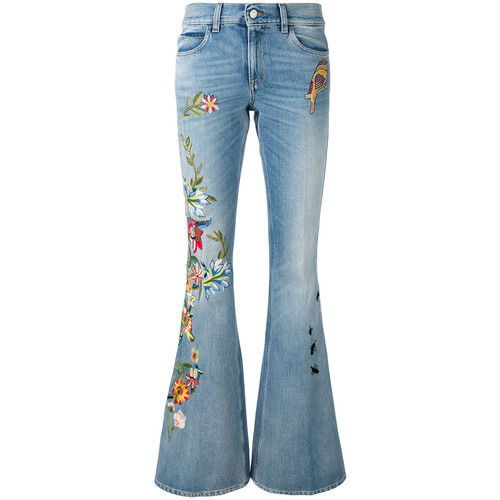 GUCCI Floral Embroidered Flares
