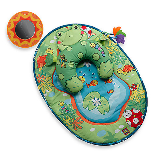 Tummy-Time Frog Pillow & Mat by Tiny Love