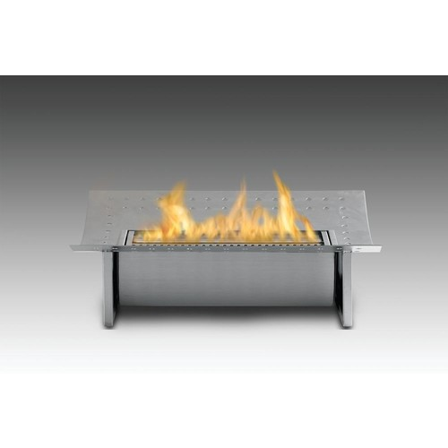 Insert 15 in. Ethanol Free Standing Fireplace in Stainless Steel