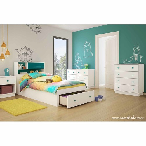 South Shore Little Monsters 6-Drawer Double Dresser - Pure White