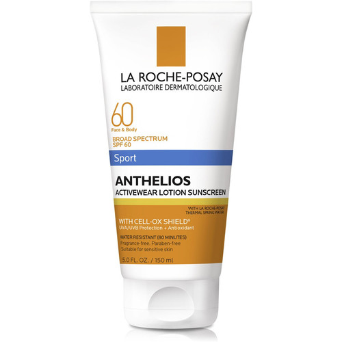 Anthelios 60 Face and Body Sport Sunscreen Lotion, SPF 60