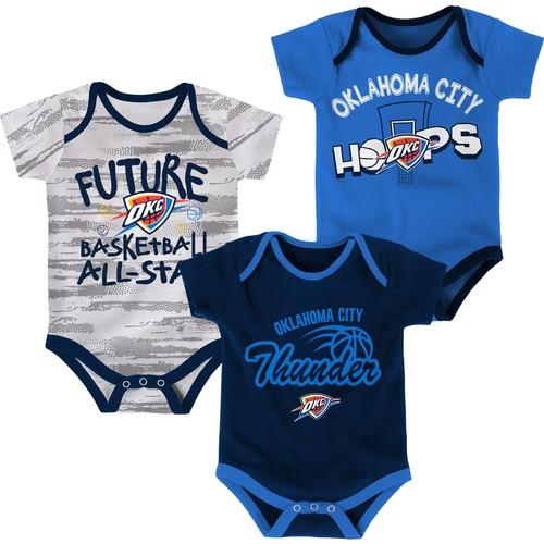 NBA Infant Oklahoma City Thunder 3-Piece Onesie Set
