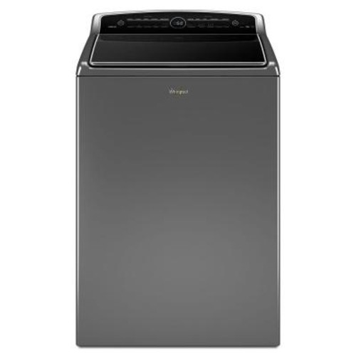 Whirlpool 5.3 cu. ft. High-Efficiency Top Load Washer with ColorLast in Chrome Shadow, Intuitive Touch Controls