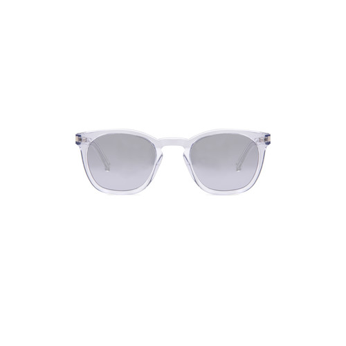 SAINT LAURENT Sl 28 Sunglasses In Crystal & Silver Mirror