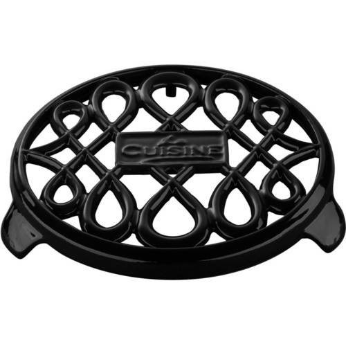La Cuisine Cast Iron Non-slip Black Trivet