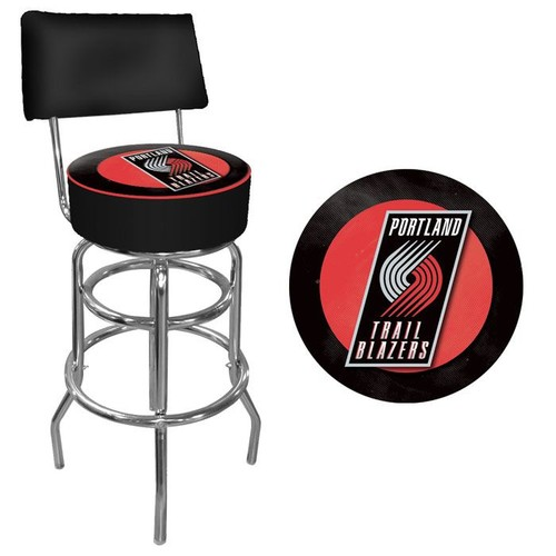 NBA(CANONICAL) Portland Trail Blazers Padded Swivel Bar Stool with Back