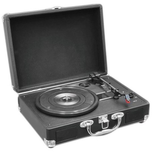 PYLE PVTT2UBK Retro Belt-Drive Turntable with USB-to-PC Connection with Built-In Rechargeable Battery