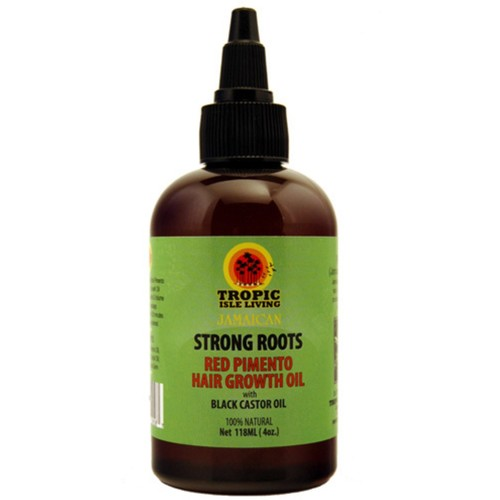 Tropic Isle Living- Strong Roots Red Pimento Hair Growth Oil-4oz [4 Ounces]