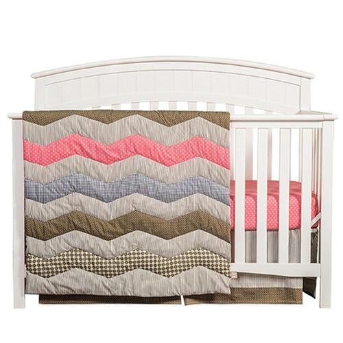Trend Lab Baby Cocoa Coral 3 Piece Crib Bedding Set