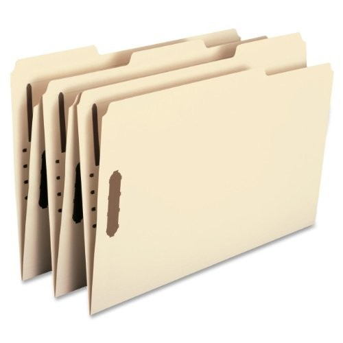 Smead 19547 Folders, Two Fasteners, 1/3 Cut Assorted Top Tabs, Legal, Manila (Box of 50)
