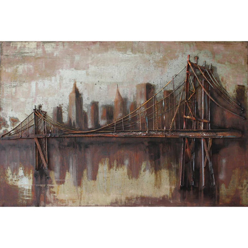 Empire Art Bridgescape Wall Art - Primo Mixed Media Wall Sculpture
